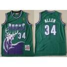 Men's Milwaukee Bucks #34 Ray Allen Green 1996 Hollywood Classic Swingman Jersey
