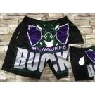Men's Milwaukee Bucks Black Hollywood Classic Printed Shorts