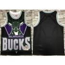 Men's Milwaukee Bucks Blank Black Hollywood Classic Printed Jersey