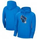 Men's Milwaukee Bucks Blue 2021 City Edition Essential Logo Fleece Pullover Hoodie