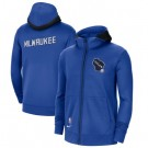 Men's Milwaukee Bucks Blue Showtime Performance Full Zip Hoodie Jacket