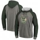 Men's Milwaukee Bucks Gray Printed Pullover Hoodie