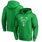 Men's Milwaukee Bucks Green Printed Pullover Hoodie