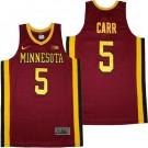 Men's Minnesota Golden Gophers #5 Marcus Carr Red College Basketball Jersey