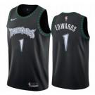 Men's Minnesota Timberwolves #1 Anthony Edwards Black Classic Icon Hot Press Jersey