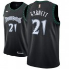 Men's Minnesota Timberwolves #21 Kevin Garnett Black Classic Icon Hot Press Jersey