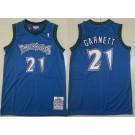Men's Minnesota Timberwolves #21 Kevin Garnett Blue 1997 Throwback Swingman Jersey