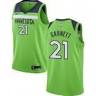 Men's Minnesota Timberwolves #21 Kevin Garnett Green Statement Icon Hot Press Jersey