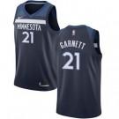 Men's Minnesota Timberwolves #21 Kevin Garnett Navy Icon Hot Press Jersey