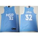 Men's Minnesota Timberwolves #32 Karl Anthony Towns Blue City Icon Swingman Jersey