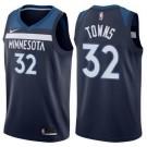 Men's Minnesota Timberwolves #32 Karl Anthony Towns Navy Icon Hot Press Jersey