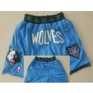 Men's Minnesota Timberwolves Blue Just Don Shorts