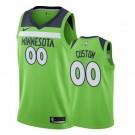 Men's Minnesota Timberwolves Custom Green Statement Icon Hot Press Jersey