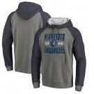 Men's Minnesota Timberwolves Gray 1 Printed Pullover Hoodie