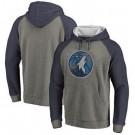 Men's Minnesota Timberwolves Gray 2 Printed Pullover Hoodie