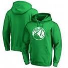 Men's Minnesota Timberwolves Green Printed Pullover Hoodie