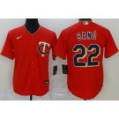Men's Minnesota Twins #22 Miguel Sano Red 2020 Cool Base Jersey