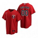 Men's Minnesota Twins Customized Red Alternate 2020 Cool Base Jersey