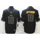 Men's Minnesota Vikings #18 Justin Jefferson Limited Black Golden 2020 Vapor Untouchable Jersey