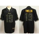 Men's Minnesota Vikings #19 Adam Thielen Limited Black Golden 2020 Vapor Untouchable Jersey