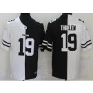 Men's Minnesota Vikings #19 Adam Thielen Limited Black White Split Jersey
