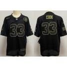 Men's Minnesota Vikings #33 Dalvin Cook Limited Black 2020 Salute To Service Jersey