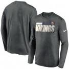 Men's Minnesota Vikings Gray Sideline Impact Legend Performance Long Sleeves T Shirt 637