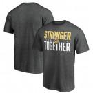 Men's Minnesota Vikings Heather Charcoal Stronger Together Printed T-Shirt 0705
