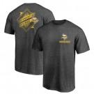 Men's Minnesota Vikings Iconic Retro Diamond Scroll Printed T-Shirt 0958