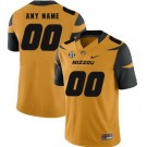 Men's Missouri Tigers Customized Yellow Rush College Football Jersey