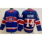 Men's Montreal Canadiens #14 Nick Suzuki Blue Special 2021 Authentic Jersey