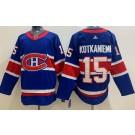 Men's Montreal Canadiens #15 Jesperi Kotkaniemi Blue Special 2021 Authentic Jersey