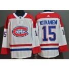 Men's Montreal Canadiens #15 Jesperi Kotkaniemi White Authentic Jersey