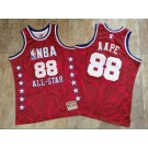 Men's NBA #88 AAPE Red All Star Hardwood Classics Authentic Jersey