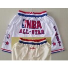 Men's NBA White 2003 All Star Just Don Shorts