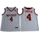 Men's NC State Wolfpack #4 Dennis Smith Jr White College Basketball Jersey