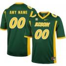 Men's NDSU Bison Customized Green College Football Jersey