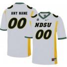 Men's NDSU Bison Customized White College Football Jersey