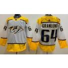 Men's Nashville Predators #64 Mikael Granlund White Jersey