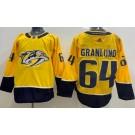 Men's Nashville Predators #64 Mikael Granlund Yellow Jersey