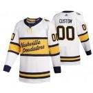 Men's Nashville Predators Customized White 2020 Winter Classic Authentic Jersey