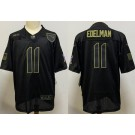 Men's New England Patriots #11 Julian Edelman Limited Black 2020 Salute To Service Jersey