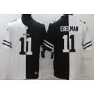Men's New England Patriots #11 Julian Edelman Limited Black White Split Jersey