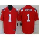 Men's New England Patriots #1 Cam Newton Limited Red 2020 Vapor Untouchable Jersey