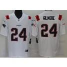 Men's New England Patriots #24 Stephon Gilmore Limited White 2020 Vapor Untouchable Jersey