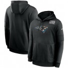 Men's New England Patriots Black Crucial Catch Sideline Performance Pullover Hoodie