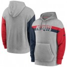 Men's New England Patriots Gray Heathered Heritage Tri Blend Pullover Hoodie