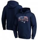 Men's New England Patriots Navy Banner Wave Printed Pullover Hoodie 0737