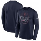 Men's New England Patriots Navy Icon Legend Performance Long Sleeve T-Shirt
