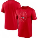 Men's New England Patriots Red Legend Icon T-Shirt